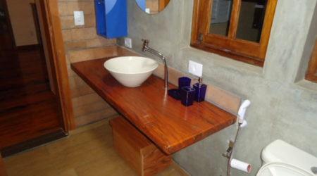 Bancada banheiro visitas